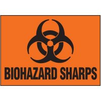 Biohazard Sharps Label