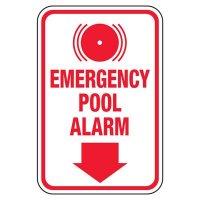 Emergency Pool Alarm - Pool Signs