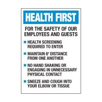 Employees & Guests Safety Label