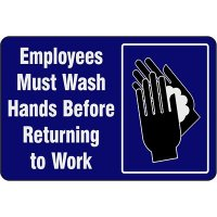 Employees Must Wash Hands Before Returning To Work  - Safety Message Mat