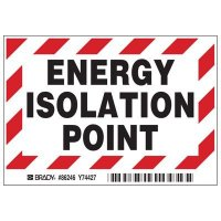 Brady 86246 Energy Isolation Point Labels - Pack of 5