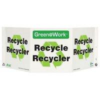 En/Fr Bilingual Tri View Recycling Sign