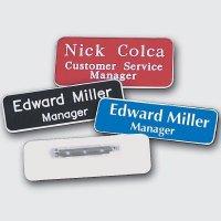 "Custom Engraved Name Badges - 1-1/2"" x 3"""