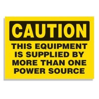 Equipment Supplied By Multiple Sources - Voltage Warning Labels