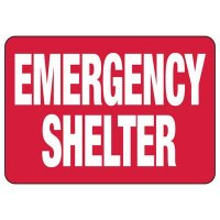 Emergency Shelter Evacuation Sign