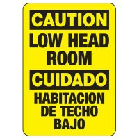 Bilingual Caution Low Head Room Sign