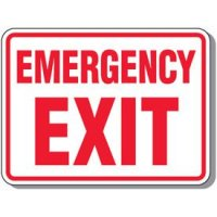 Outdoor Emergency Exit Sign