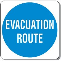 Outdoor Evacuation Route Sign