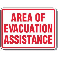 Outdoor Area of Evacuation Assistance Sign