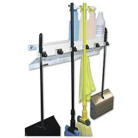 Ex-Cell Mop and Broom Holder  EXC3336WHT2