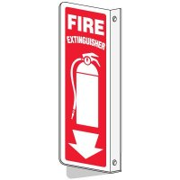 Slim-Line 2-Way Fire Extinguisher Sign (With Graphic)