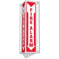 Slim-Line 3-Way Fire Alarm Sign