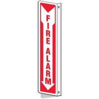 Slim-Line 2-Way Fire Alarm Sign
