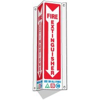 Slim-Line 3-Way Fire Extinguisher Sign - Use On All Fires