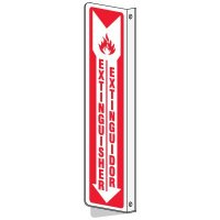 Bilingual Slim-Line 2-Way Extinguisher Sign