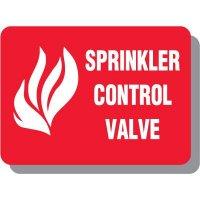 Sprinkler Valve Fire Signs