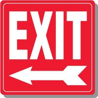 Exit with Arrow Signs