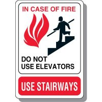 In Case of Fire Safety Sign