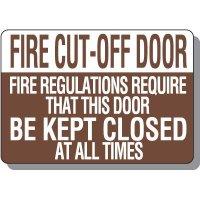 Fire Cut-Off Door Signs