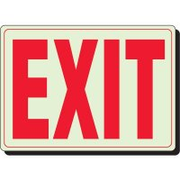 Glow In The Dark Exit Sign (White)