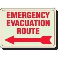 Glow In The Dark Evacuation Signs