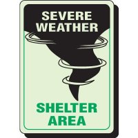 Glow In The Dark Severe Weather Signs