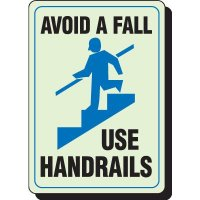 Glow In The Dark Avoid Fall Signs