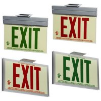Jessup Glo Brite Photoluminescent UL924 Exit Sign P50 with Frame