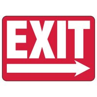 Exit Right Arrow Sign (Red)