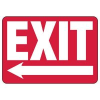 Exit (Left Arrow) Sign