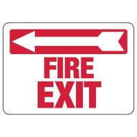 Fire Exit (Left Arrow) Sign