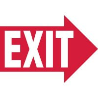 Right Arrow Exit Sign