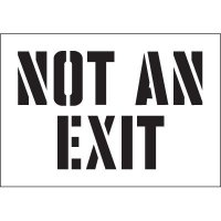 Not An Exit Stencil