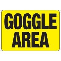 Goggle Area Sign
