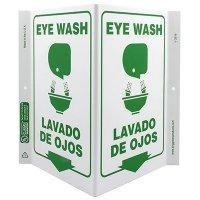 Eye Wash Bilingual V-Style Sign