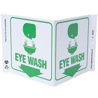 Eye Wash V-Style Sign