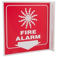 Fire Alarm L-Style Sign