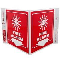 Fire Alarm V-Style Sign