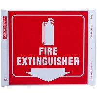Fire Extinguisher Corner Sign