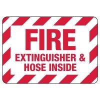 Fire Extinguisher & Hose Inside Sign