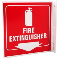 Fire Extinguisher L-Style Sign
