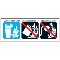 Class A Fire Extinguisher Symbols Label