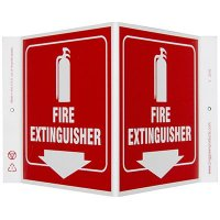 Fire Extinguisher V-Style Sign
