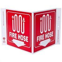 Fire Hose V-Style Sign