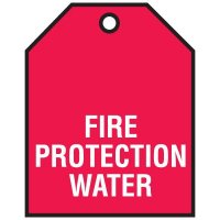 Fire Protection Water - Vinyl Valve Indicator Tags