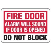 Fire Alarm Will Sound Safety Sign