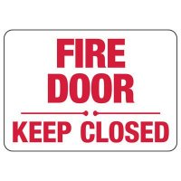 Fire Door Keep Closed Safety Sign