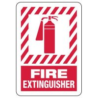 Fire Extinguisher (With Graphic) - Fire Safety Signs