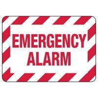 Emergency Alarm - Fire Equipment Signs