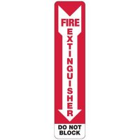 Slim-Line Fire Extinguisher Do Not Block Sign